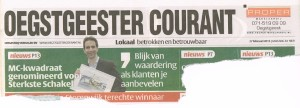 Voorpagina Oegstgeester Courant